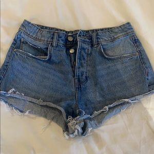 Zara Denim Cheeky Shorts